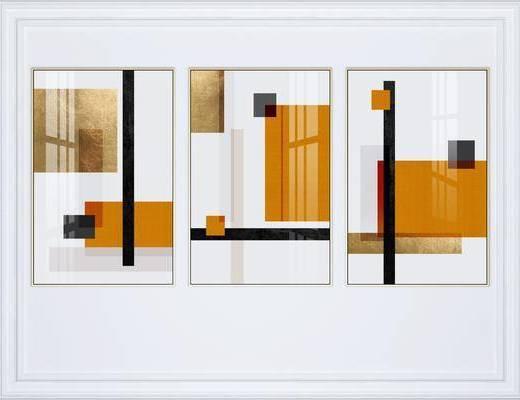 装饰画, 挂画组合, 艺术挂画, 组合画, 现代