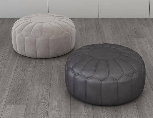 沙發圓凳, 腳踏沙發, 現代