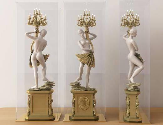北欧蜡烛, 蜡烛, 人物雕塑