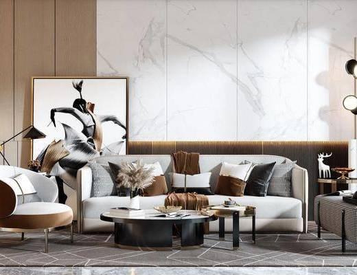 现代沙发组合, 沙发茶几组合, 现代沙发茶几组合, 沙发组合