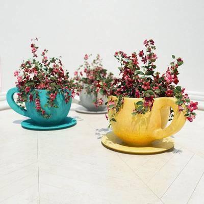 花卉, 花盆, 现代