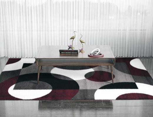 方形地毯, 桌子, 装饰品, 陈设品, 现代