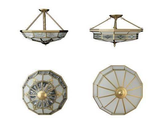 吸顶灯, 欧式古典吸顶灯, 欧式, 古典