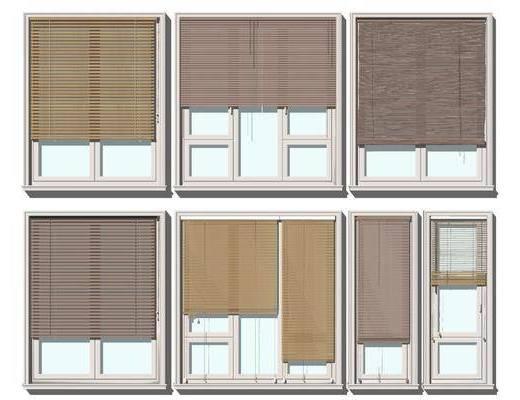 現代百葉窗簾, 羅馬簾, 竹簾, 卷簾