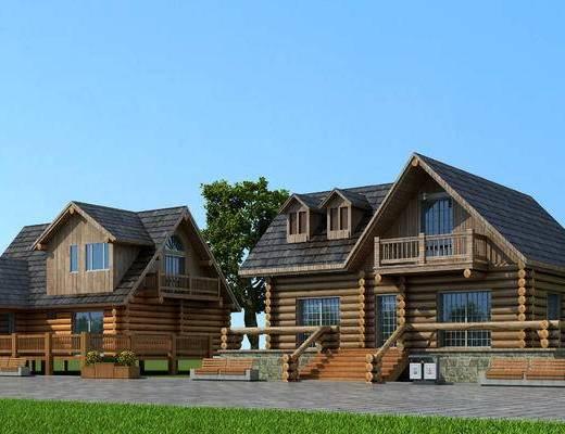别墅, 度假村, 住宅, 建筑