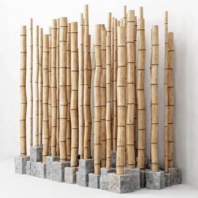 竹子, 隔断, 装饰摆件, 摆件, 现代, 园艺
