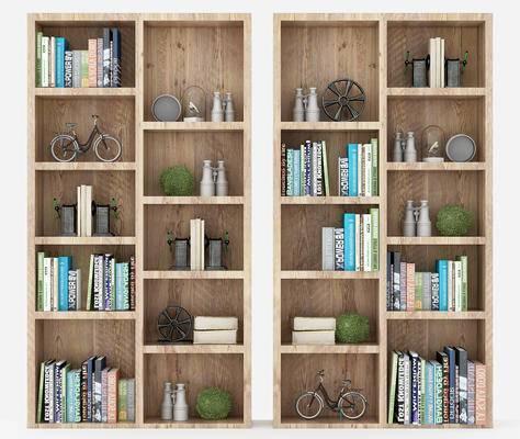书架, 书柜, 摆设品, 陈设品, 书籍