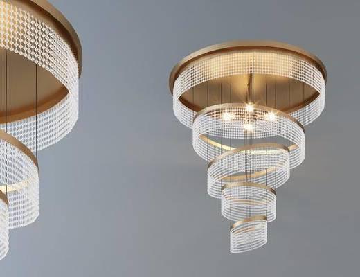吊燈, 燈具, 水晶燈組合