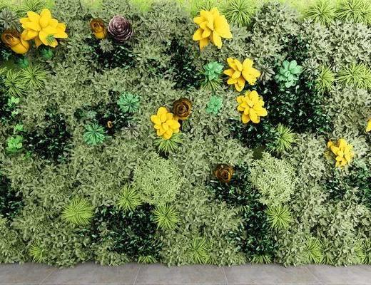 植物墙, 花墙, 现代