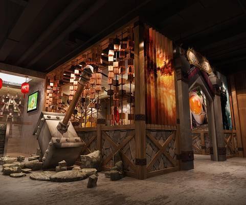 魔兽主题餐厅, 火锅店, 魔兽, 餐饮, 原生态, 工业风