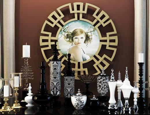 古典欧式奢华装饰品, 新古典陈设品, 欧式摆设, 墙饰