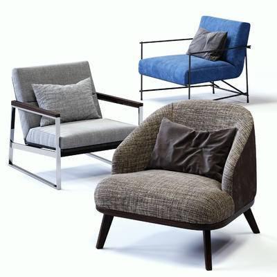 休闲沙发, 休闲椅, 现代, 单人沙发, 沙发, 后现代