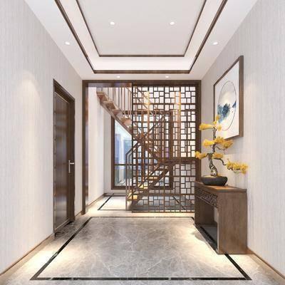 新中式楼梯, 楼梯, 护栏楼梯