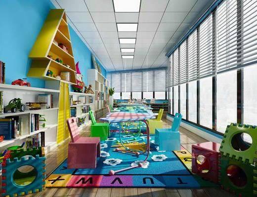 现代, 幼儿园, 游乐园