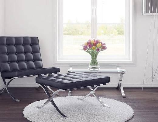 现代单椅, 单椅, 单椅组合