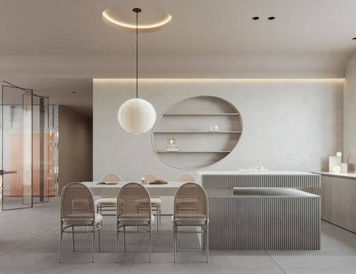 现代客厅餐厅