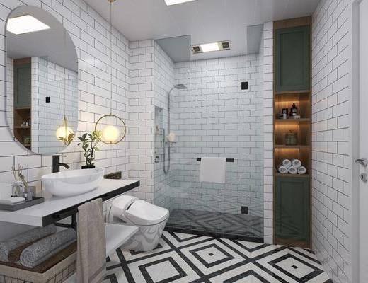 洗手臺, 淋浴間, 擺件, 裝飾品