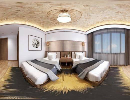 自然风民宿卧室
