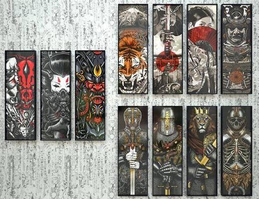 装饰画, 日式, 工业风, 酒吧, 纹身店, 挂画