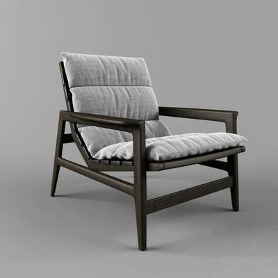 椅子, 布艺椅, 单人椅, 现代