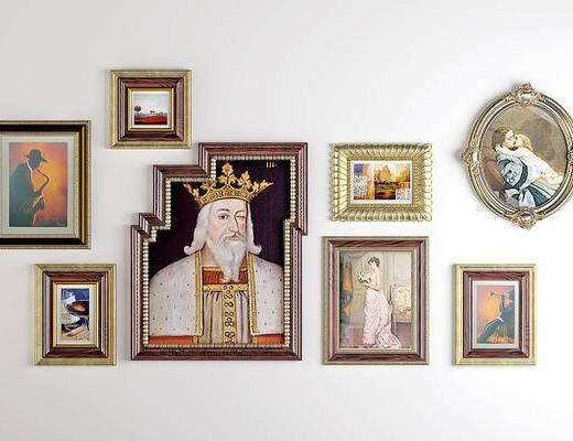 美式欧式古典挂画, 装饰画