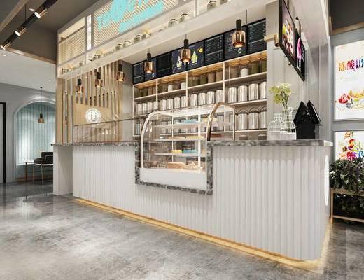 奶茶店, 前台, 置物柜