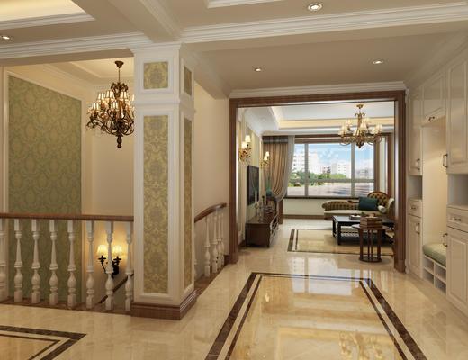 客厅, 美式客厅, 美式沙发, 沙发组合, 餐厅, 卧室