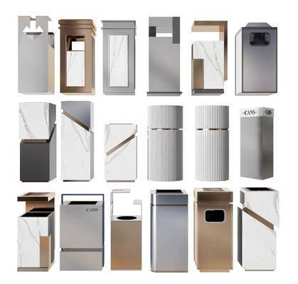 现代, 垃圾桶, 组合