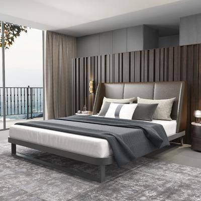 双人床, 床头柜