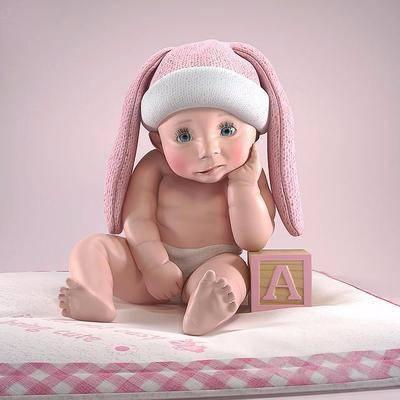 儿童模型, 摆件