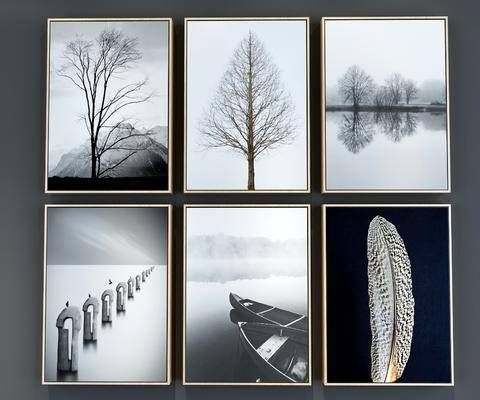 装饰画, 挂画, 组合画, 植物画, 现代