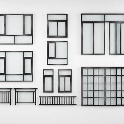 不锈钢, 窗, 门, 现代, 不锈钢窗, 不锈钢门, 栏杆, 扶手