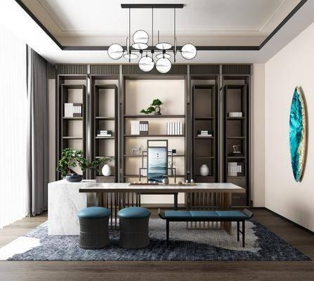 新中式, ��房, ����, ��桌椅, 吊��