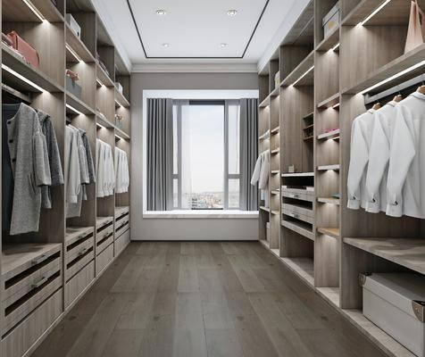 衣帽间, 现代衣帽间, 衣柜, 衣橱, 衣服, 鞋帽, 现代