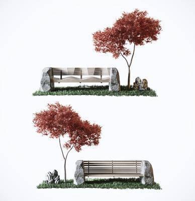 户外椅, 单椅, 植物