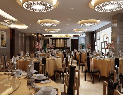 中式, 酒店大厅, 餐桌组合