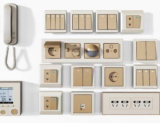 開關面板, 對講電話, 電話組合, 現代