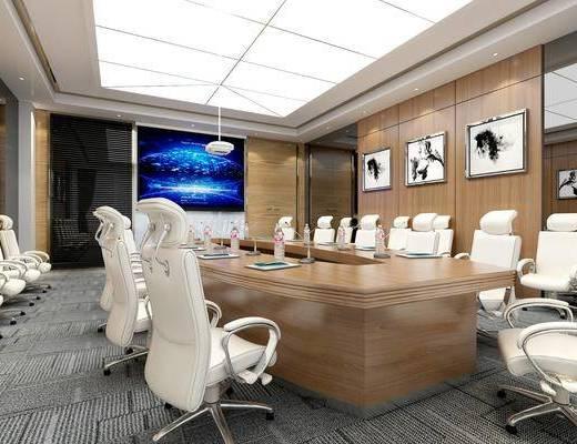 會議室, 會議桌椅組合, 掛畫組合, 現代