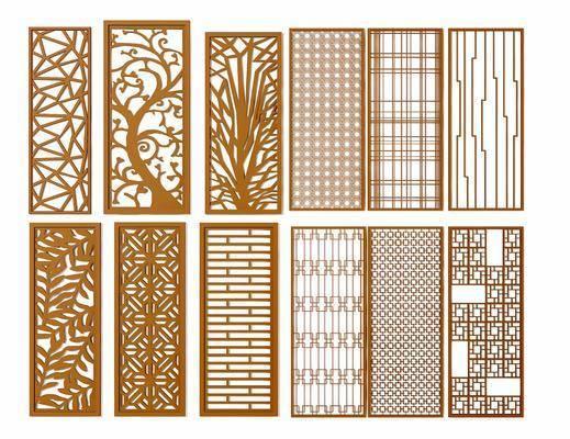 隔断, 屏风, 现代隔断, 现代屏风, 花格, 金属