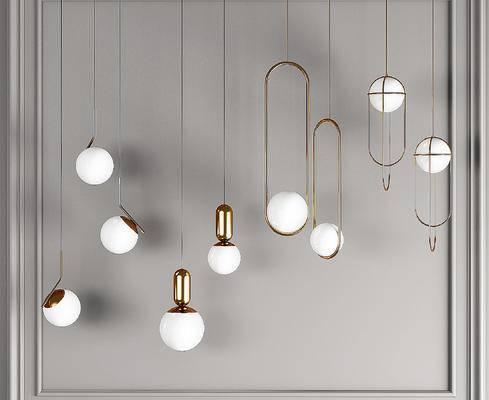 现代球形玻璃球小吊灯, 床头吊灯