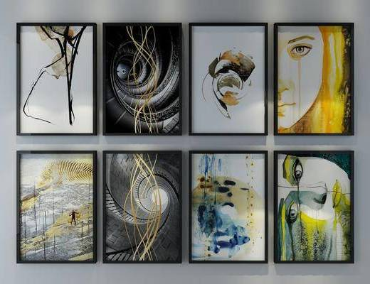 装饰画, 人物画, 组合画, 现代