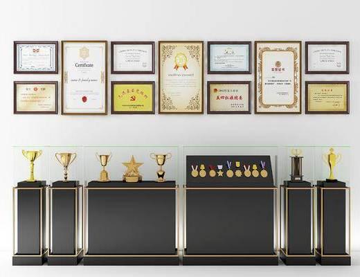 现代奖杯, 现代奖牌, 奖杯, 奖牌, 展示台, 现代展示台