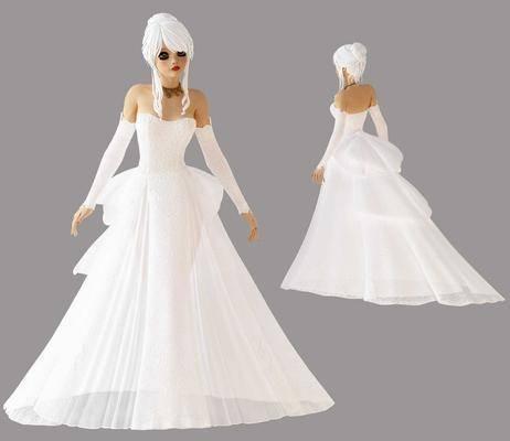 人物, 模特, 婚纱