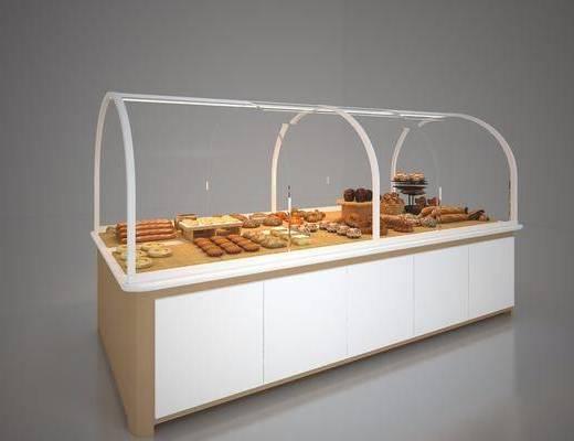 面包食品, 展示柜, 现代