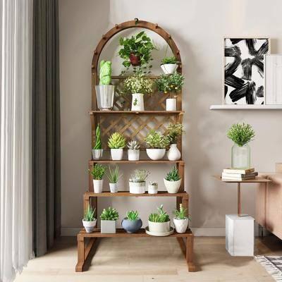 花瓶, 装饰柜架, 花架