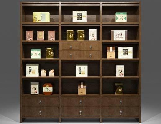 中式置物架, 置物架, 装饰柜架