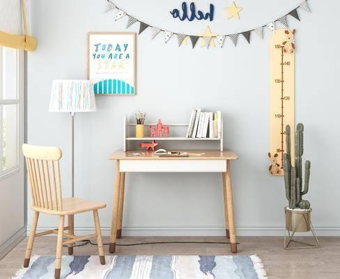 兒童書桌, 桌椅組合, 書籍, 北歐