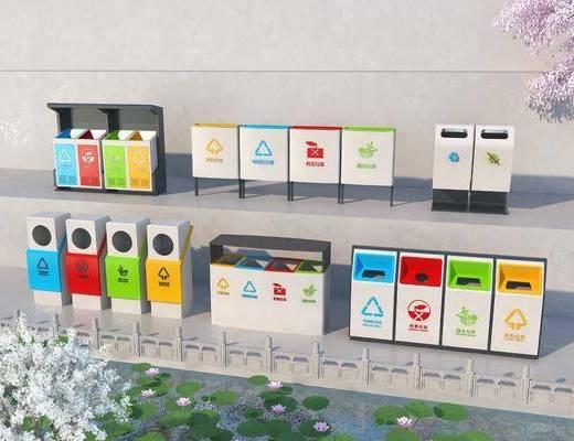 现代, 垃圾桶, 单体