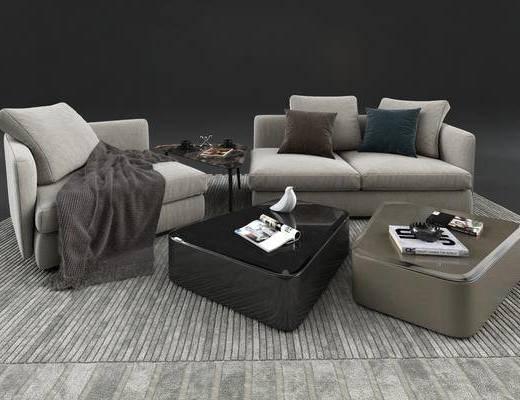 沙发组合, 茶几, 边几, 现代