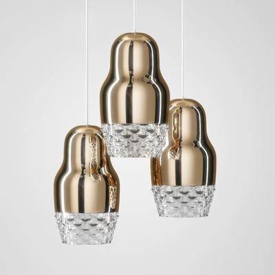 吊灯, 金属, 玻璃, 现代